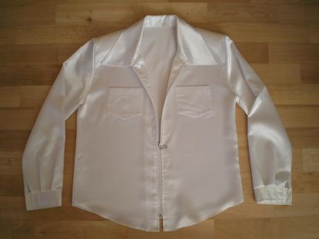 Biela blúzko košeľa na zips - párkrát oblečená, L
