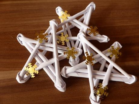Dekorácia - Hviezdičky na Vianočný stromček,