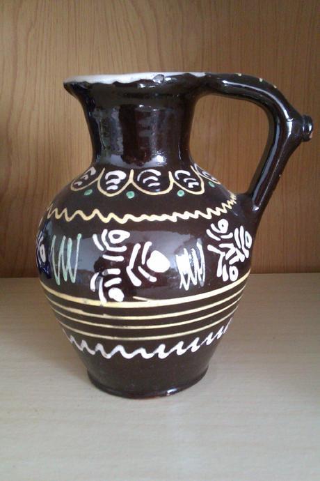 Keramická krčah - ručne maľovaný.,