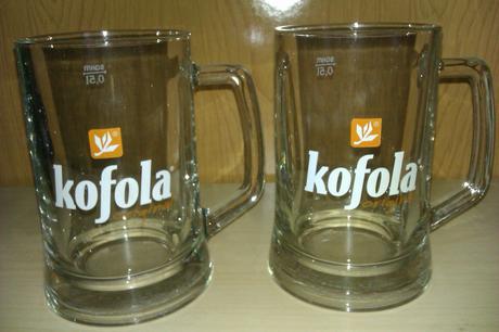 Kofolové poháre 0,5l - Nepoužité,