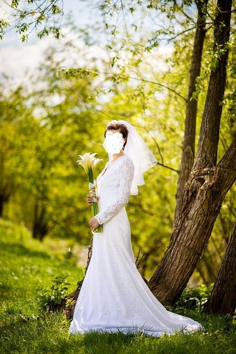 svadobné šaty, veľkosť 36 (cca), 36