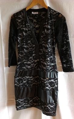 Čierne krajkové šaty veľ. L, L