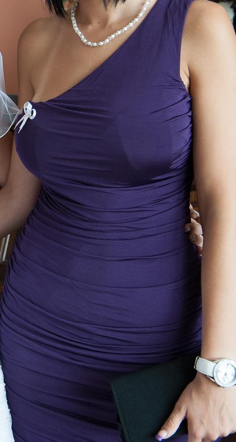 Dámske elegantné šaty s jedným rukávom, 36