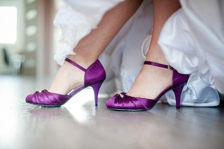 Ponukam svadobne fialove topanky, 37