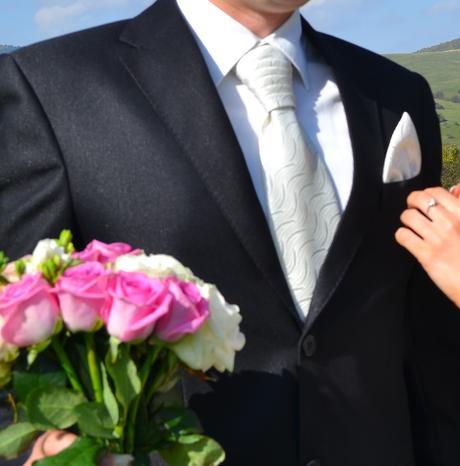 Pánska svadobná francúzska viazanka,