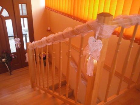 Svadobné dekorácie - srdiečka na zavesenie ,