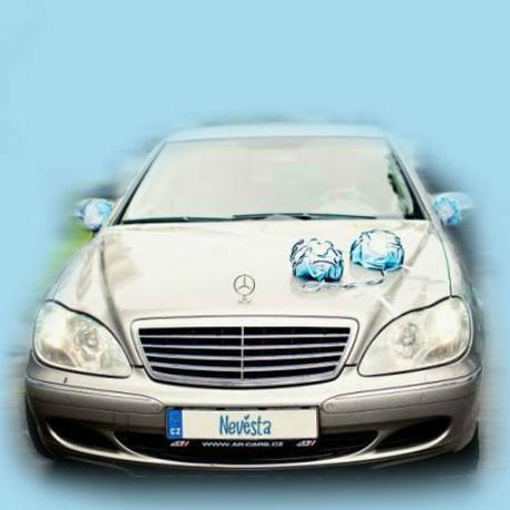 Dekorace na svatební auto - barva na přání,