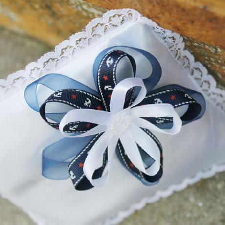 Polštářek pod prstýnky - námořnická svatba,