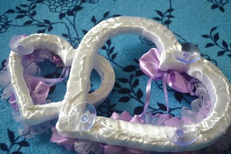 Bielo-fialkove srdcia,