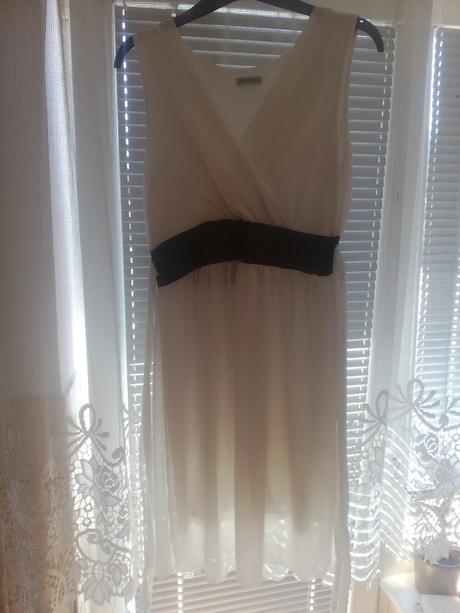 Biele spoločenské šaty veľ. M, M