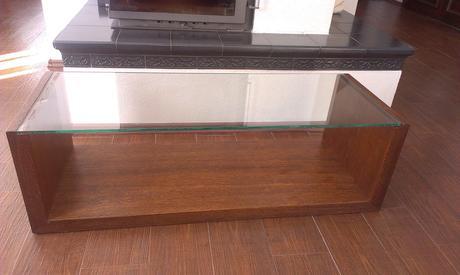 Konferenčný a príručný stolík z duba,