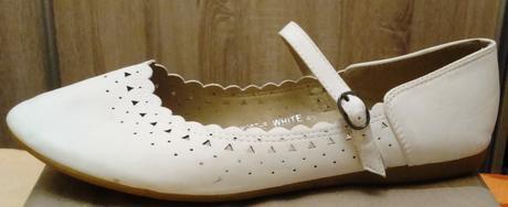 biele balerínky s remienkom, 41