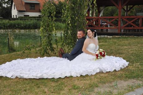 Luxusní svatební šaty 38-42, 42