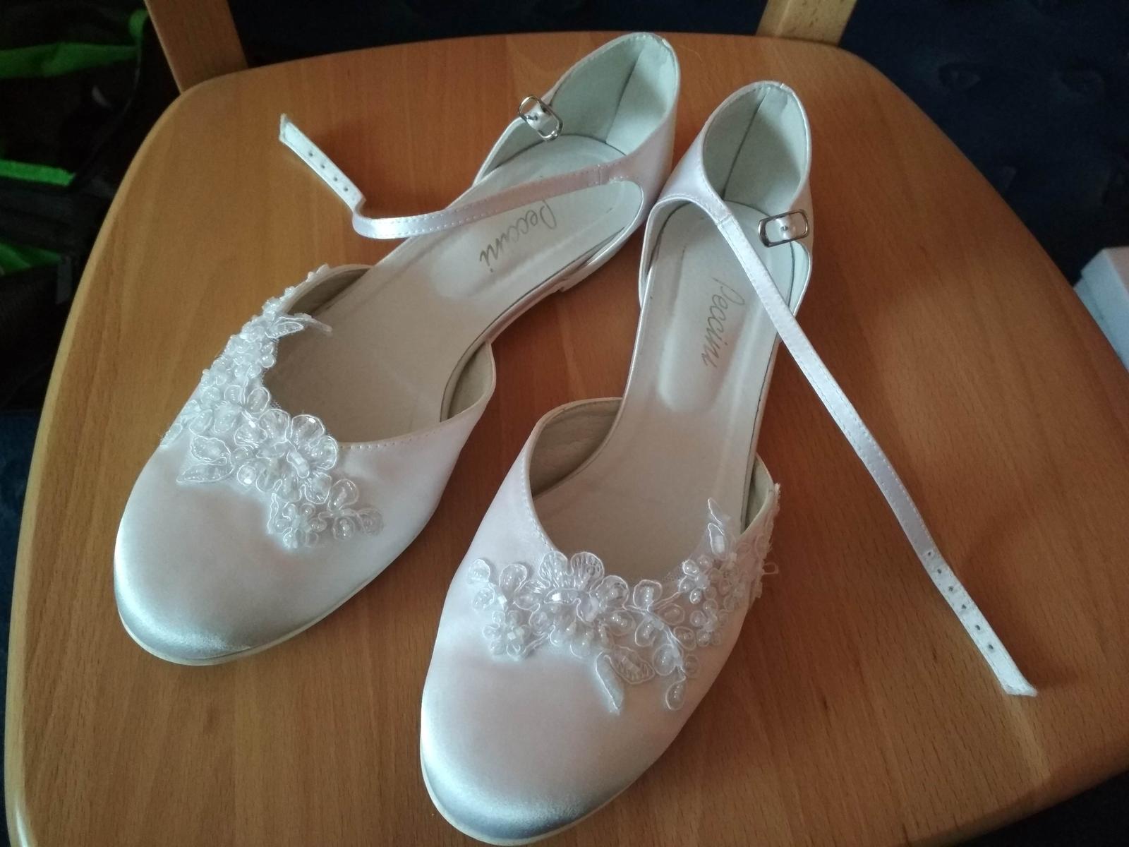 0e6d159ed0c Svatební obuv bez podpatku zn. peccini