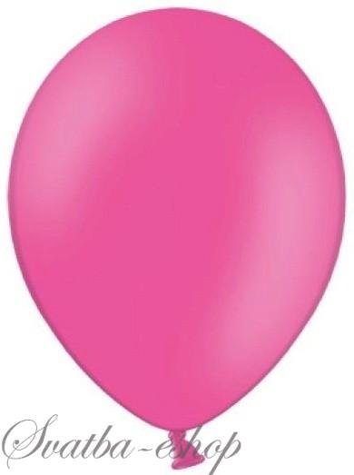 Balónek pastelový ø 27 cm sytě růžový,