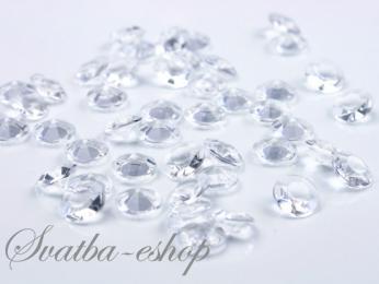 Dekorační diamanty 12 mm čiré,