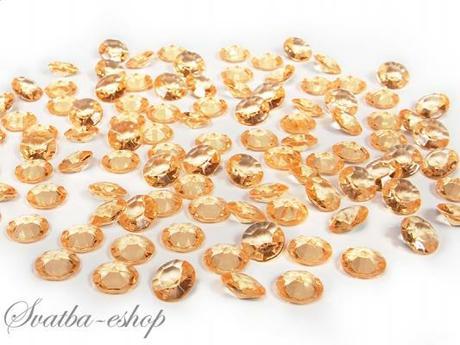 Dekorační diamanty 12 mm zlaté,