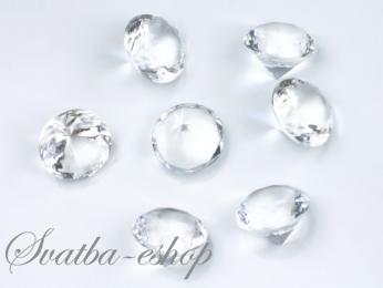 Dekorační diamanty 20 mm čiré,