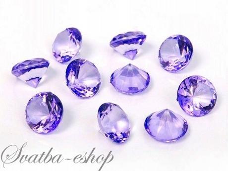 Dekorační diamanty 20 mm fialové,