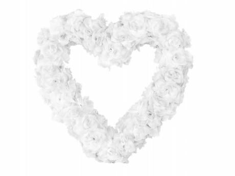 Dekorační srdce  bílé,