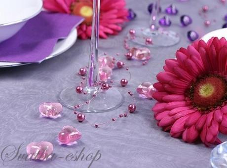 Dekorační srdíčka růžová,