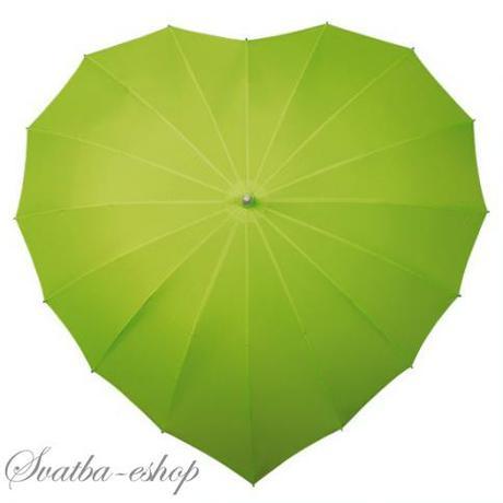 Deštník srdce více barev,