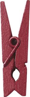 Dřevěný dekorační kolíček burgundy,