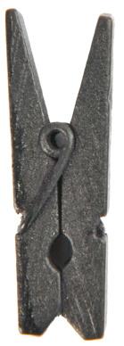 Dřevěný dekorační kolíček černý,