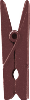 Dřevěný dekorační kolíček hnědý,