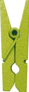 Dřevěný dekorační kolíček zelený,