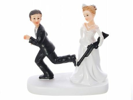 Figurka na dort Nevěsta s brokovnicí,