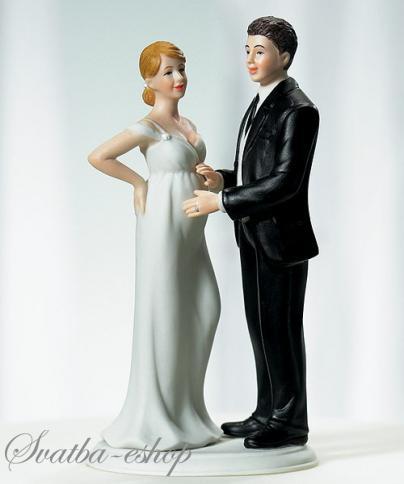 Figurka na svatební dort Čekáme miminko,