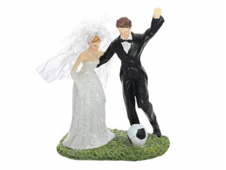 Figurka Nevěsta a ženich fotbalista,