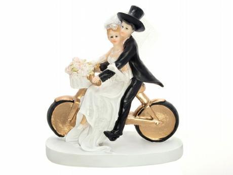 Figurka Nevěsta a ženich na kole,