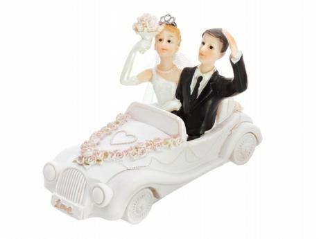 Figurka Nevěsta a ženich ve veteránu,