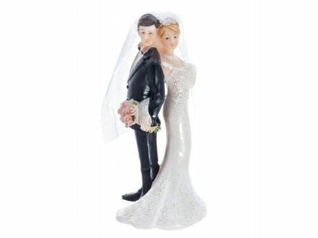 Figurka Nevěsta a ženich zády k sobě A,