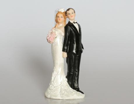 Figurka Nevěsta a ženich zády k sobě B,