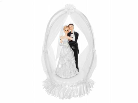 Figurka novomanželé v altánku,