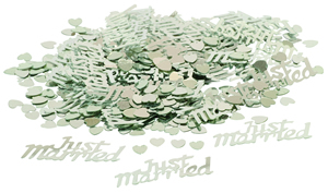Konfety Just married stříbrné,
