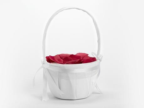 Košíček pro družičku bílý,