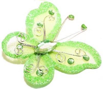 Motýlek světle zelený,