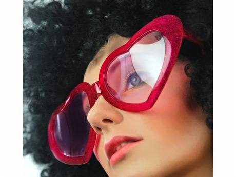 Party brýle srdíčka červená - BIG,