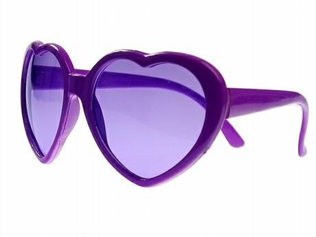Party brýle srdíčka fialová,