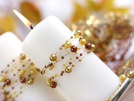 Perličky na silikonu zlaté,