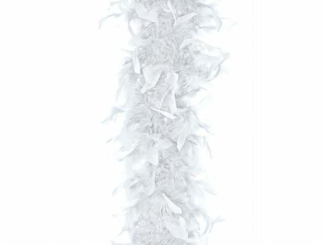Péřové boa bílé 180 cm,