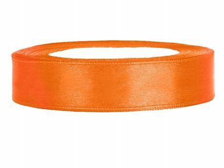 Stuha saténová 12 mm x 25 m oranžová,