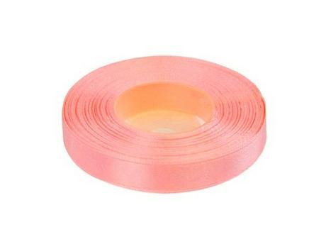 Stuha saténová 12 mm x 25 m světle růžová,
