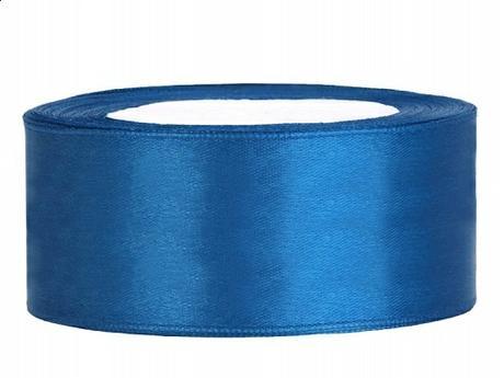 Stuha saténová 25 mm x 25 m modrá,