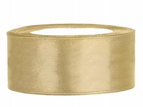 Stuha saténová 25 mm x 25 m zlatá,