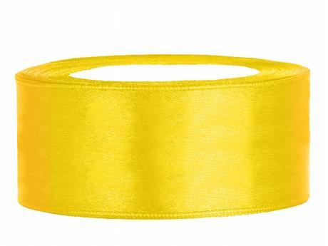 Stuha saténová 25 mm x 25 m žlutá,